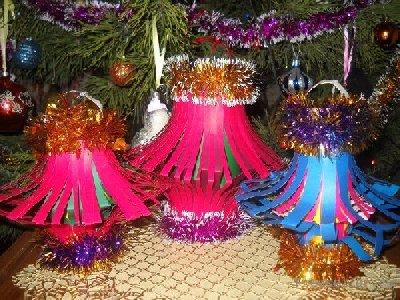Елочные игрушки своими руками фонарик